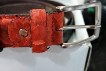 cintura in pitone arancio